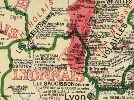 cartogérance infographie SIG Cartographie, spécialités culinaires, bourgogne, lyonnais, Rhône, Maconnais, Charollais, Charolles, Macon, Lyon