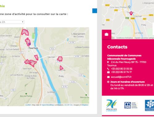 Un encart cartographique pour la présentation des ZA de la CCMT